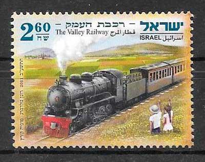 filatelia trenes Israel 2011