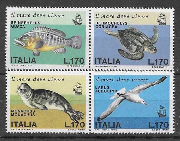 Filatelia fauna Italia 1978