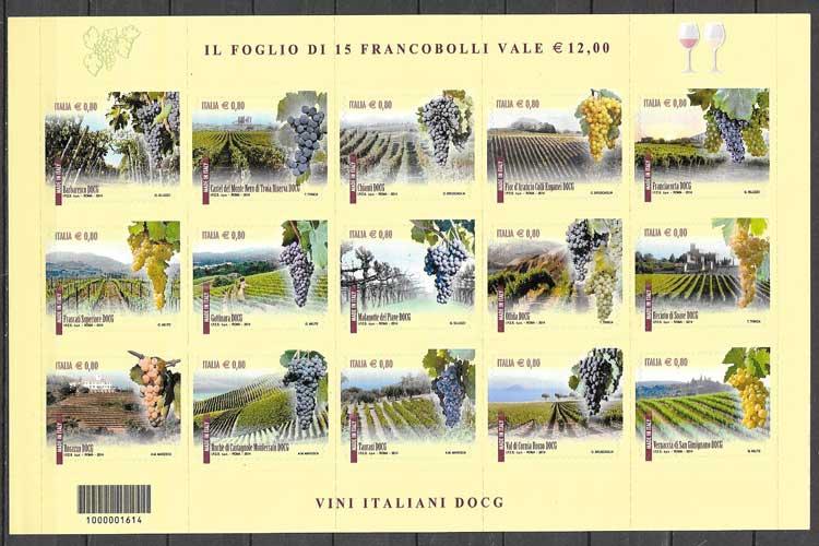 sellos flora Italia 2014