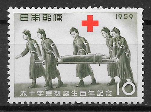 sellos cruz roja Japón 1959