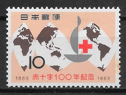 filatelia colección Cruz Roja Japón 1963