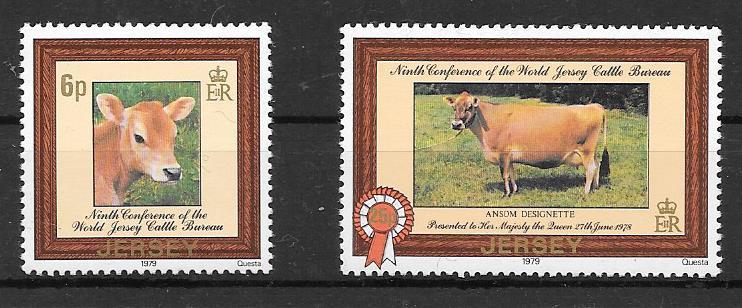 Filatelia fauna Jersey 1979