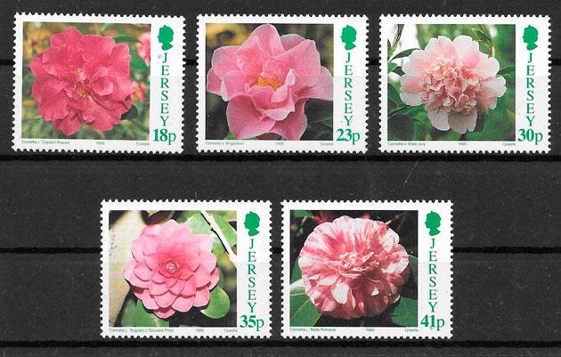 filatelia flora Jersey 1995