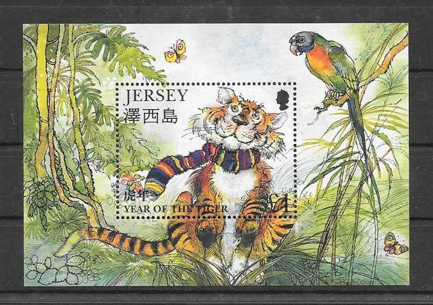 Colección sellos año lunar del tigre