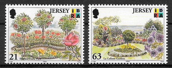 filatelia colección parques naturales Jersey 1999
