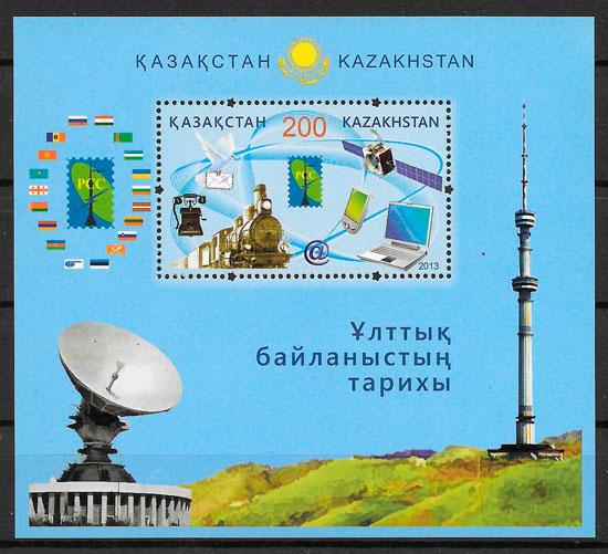 sellos trenes Kazastán 2014