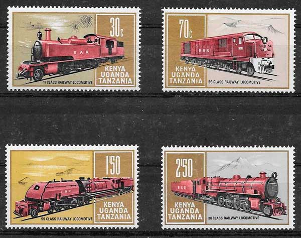 sellos trenes Kenia