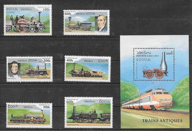 Colección sellos locomotoras de vapor 1997