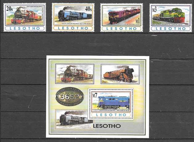 sellos colección Lesotho 1993