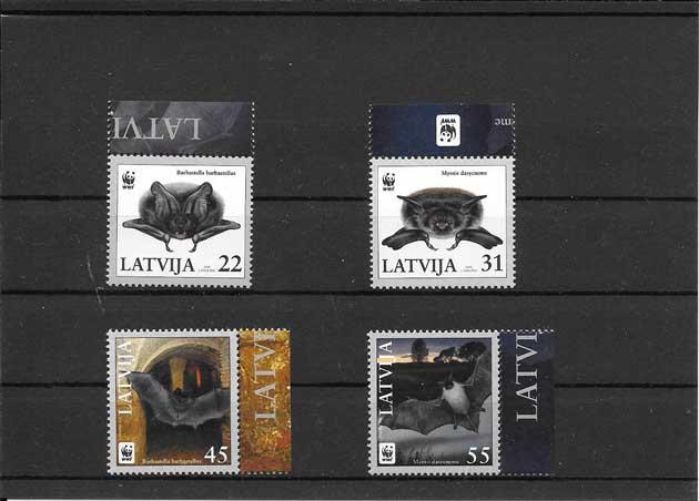 Colección Sellos serie de fauna - murciélagos