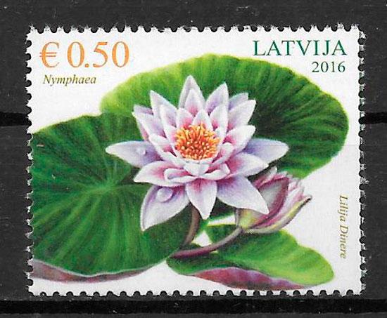 sellos flora Letonia 2016