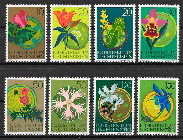 sellos flora Liechtenstein 1970