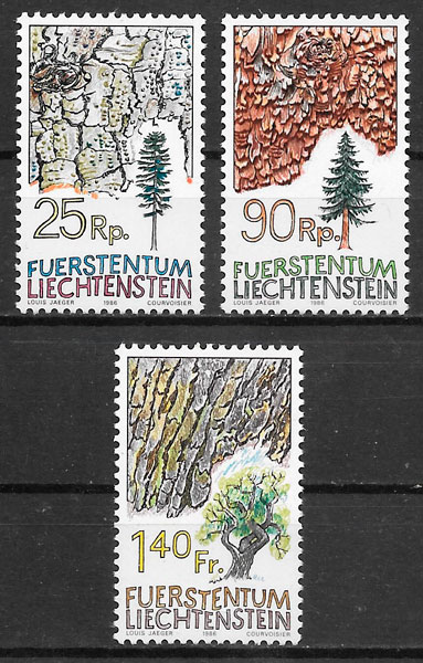 filatelia flora Liechtenstein 1986