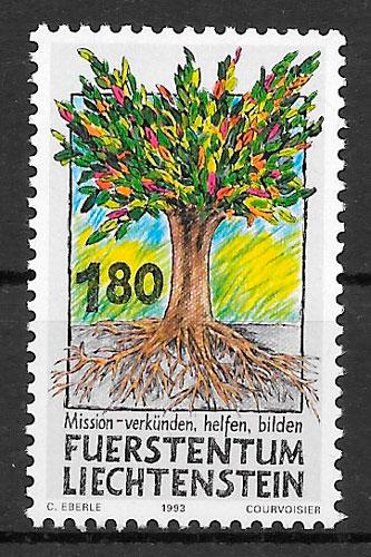 filatelia flora Liechtenstein 1993