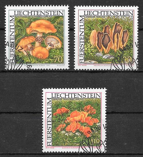 sellos setas Liechtenstein 1997