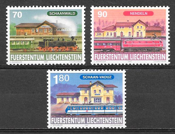 filatelia trenes Liechtenstein 1997