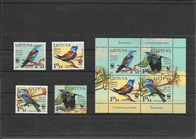 Colección Sellos fauna - aves protegidas