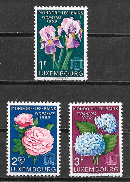 filatelia colección flora Luxemburgo 1959
