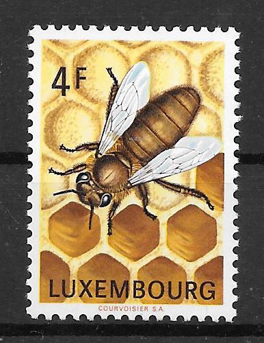 filatelia fauna Luxemburgo 1973