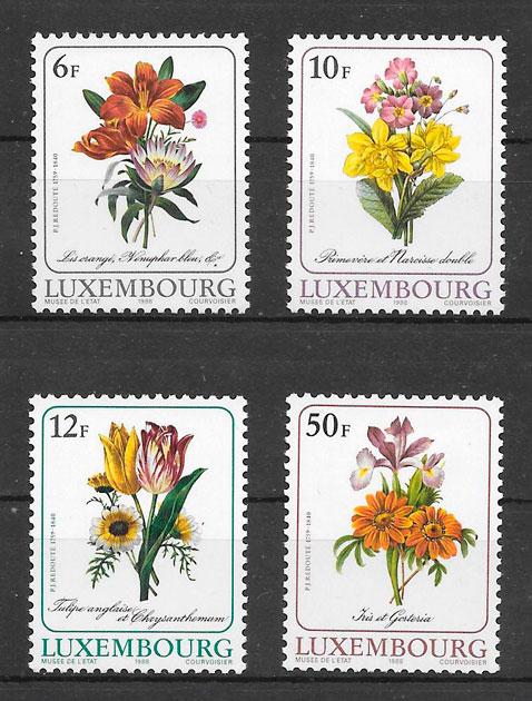 sellos flora Luxemburgo 1988