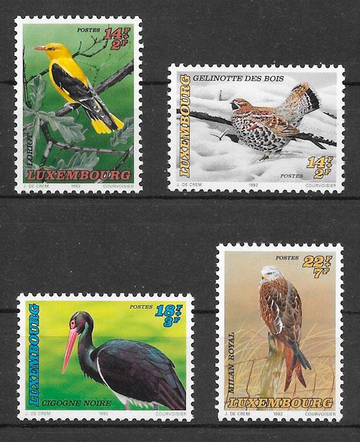 filatelia colección fauna Luxemburgo-1992