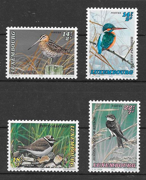 filatelia colección fauna Luxemburgo-1993