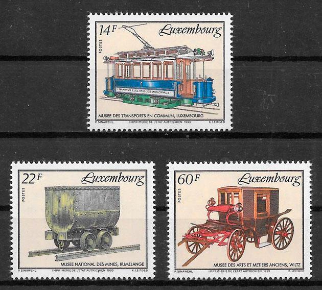 filatelia trenes Luxemburgo 1993
