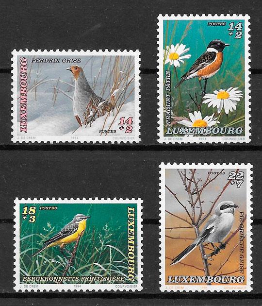 filatelia colección fauna Luxemburgo-1994