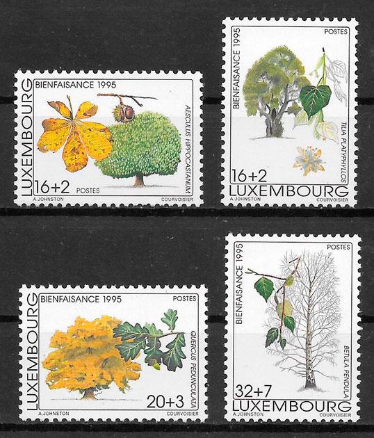 filatelia colección flora Luxemburgo 1995