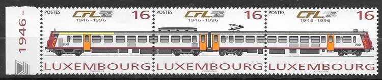 filatelia trenes Luxemburgo 1996