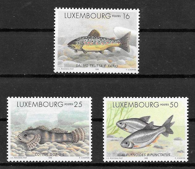 filatelia fauna Luxemburgo 1998