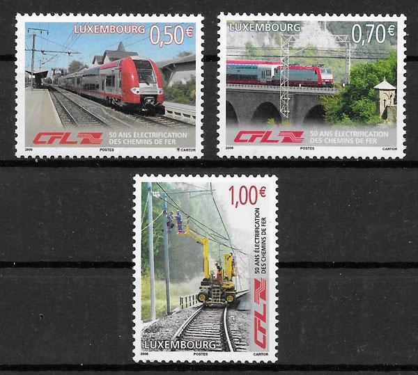 filatelia trenes Luxemburgo 2006