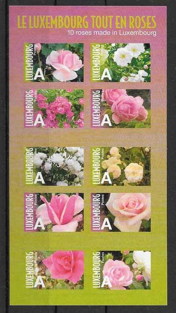sellos flora Luxemburgo 2010