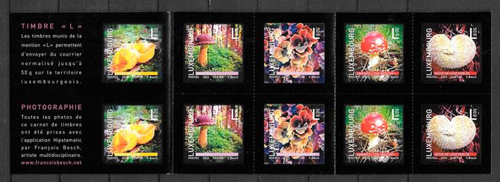 colección sellos setas Luxemburgo 2013