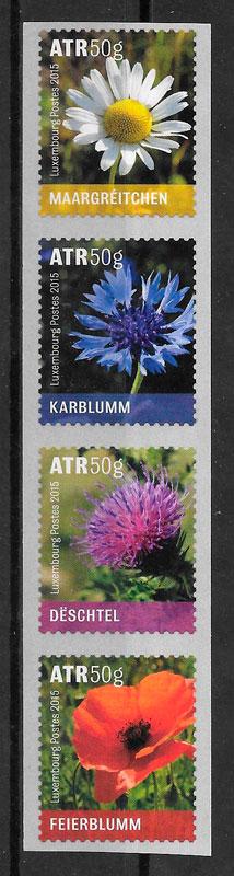 sellos flora Luxemburgo 2015