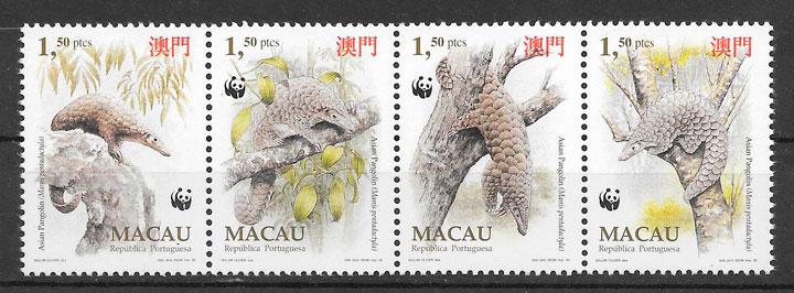 filatelia fauna Macao 1995
