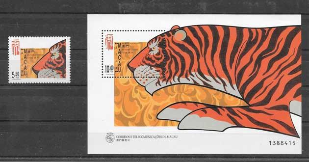 Sellos año lunar del tigre