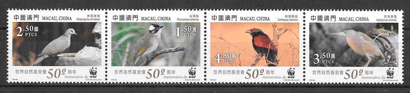 filatelia fauna wwf Macao 2011