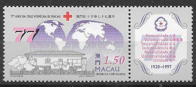 Filatelia Cruz roja Macau 1997