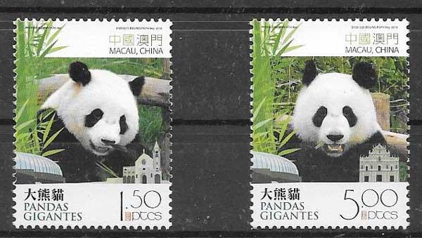 Filatelia fauna Macau 2010