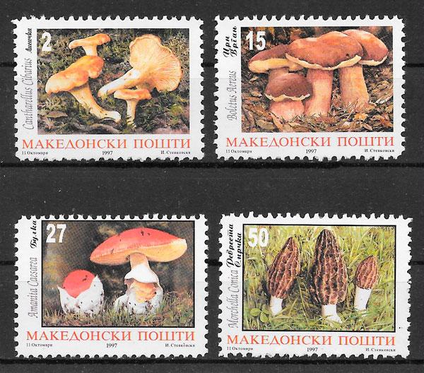 filatelia setas Macedonia 1997
