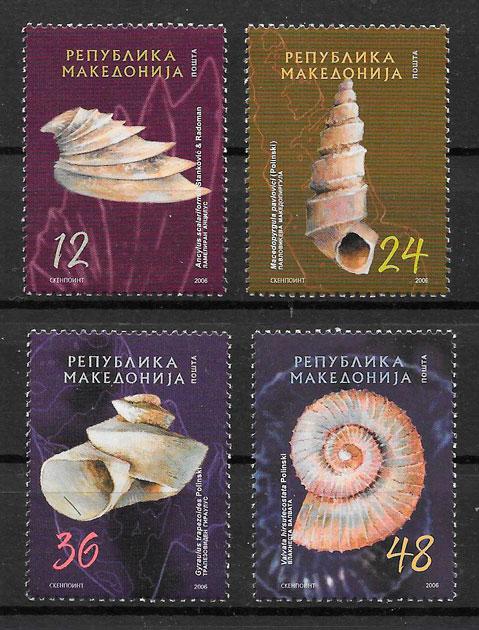 colección sellos fauna Macedonia 2006