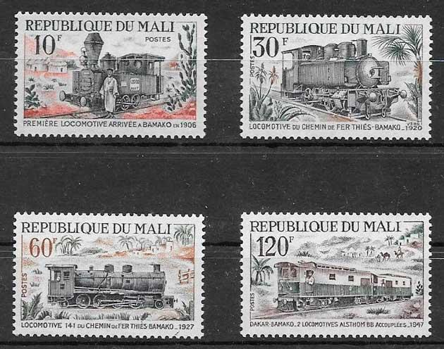 filatelia trenes Mali 1972