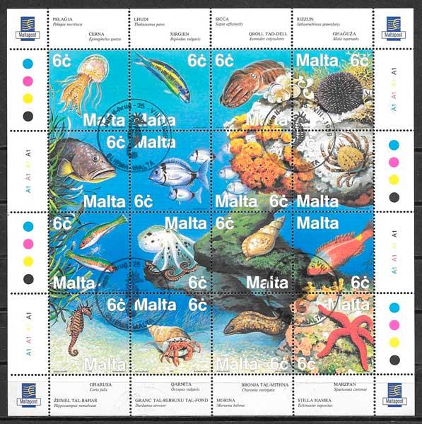 filatelia colección Malta 1999