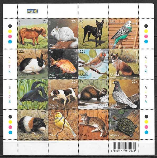 colección sellos fauna 2006 Malta