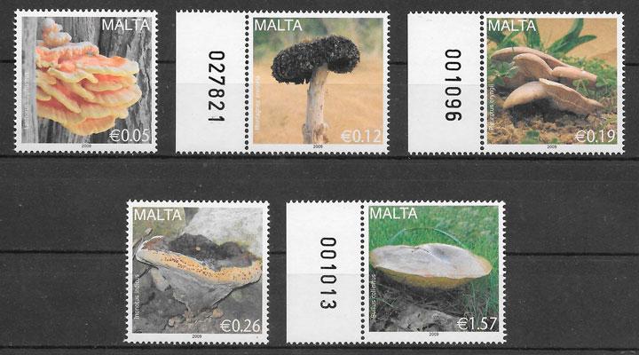 sellos setas Malta 2009