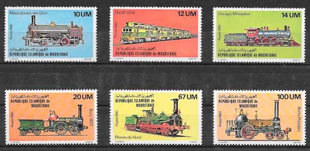 sellos colección Mauritania 1980