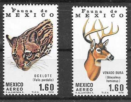 Filatelia fauna México 1978