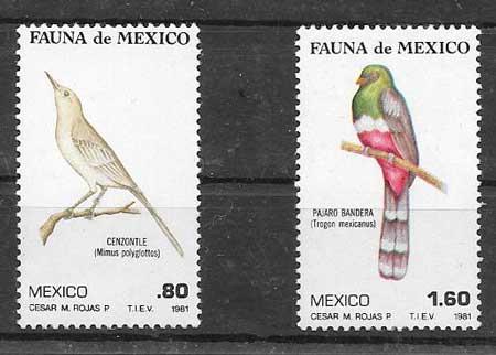 Filatelia aves México 1981