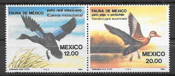 sellos fauna México 1984